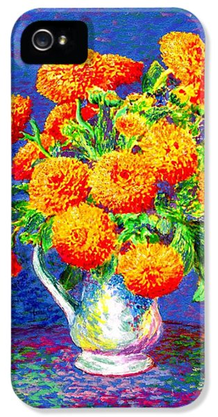 Flowering iPhone 5 Cases - Gift of Gold iPhone 5 Case by Jane Small