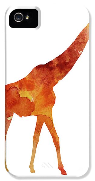 Giraffe Minimalist Painting For Sale IPhone 5 / 5s Case by Joanna Szmerdt