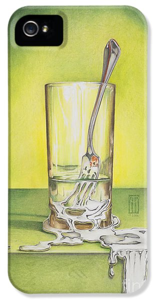 Glass With Melting Fork IPhone 5 / 5s Case by Melissa A Benson