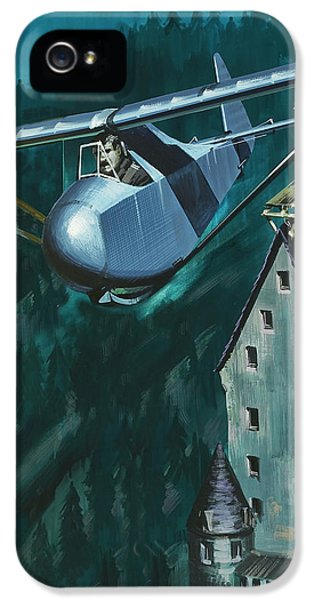 Glider Escape From Colditz Castle IPhone 5 / 5s Case by Wilf Hardy