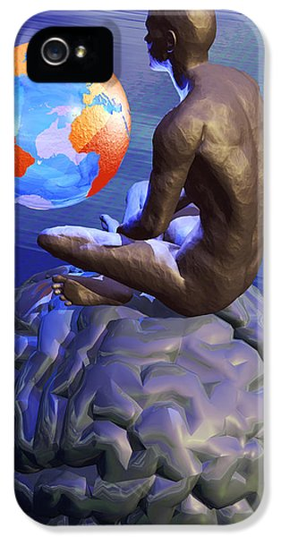 Gaia iPhone 5 Cases - Global Thought, Conceptual Artwork iPhone 5 Case by Laguna Design