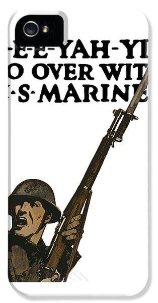 Go Over With Us Marines IPhone 5 / 5s Case by War Is Hell Store