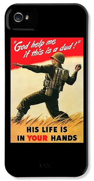 Gi iPhone 5 Cases - God Help Me If This Is A Dud iPhone 5 Case by War Is Hell Store