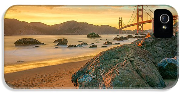 Golden Gate Sunset IPhone 5 / 5s Case by James Udall