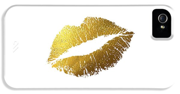 Gold Lips IPhone 5 / 5s Case by Bekare Creative
