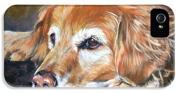 Realism iPhone 5 Cases - Golden Retriever Senior iPhone 5 Case by Lee Ann Shepard