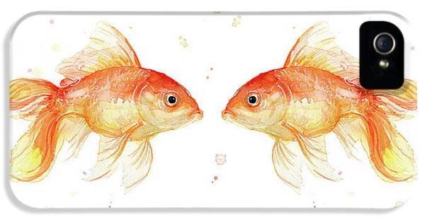Goldfish Love Watercolor IPhone 5 / 5s Case by Olga Shvartsur