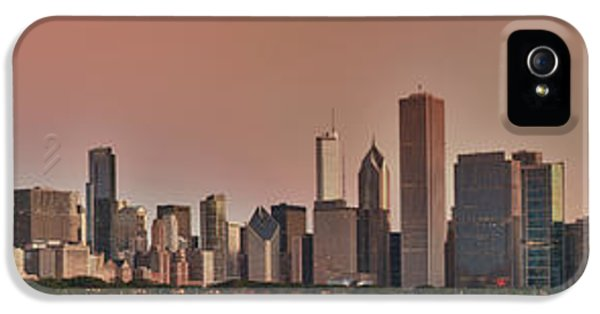 Chicago Skyline iPhone 5 Cases - Good Morning Chicago Panorama iPhone 5 Case by Sebastian Musial