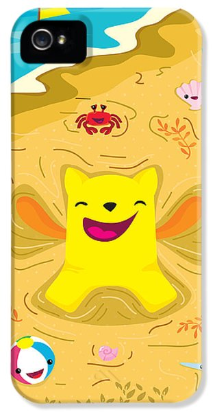 Children iPhone 5 Cases - Good vibes at the beach iPhone 5 Case by Seedys