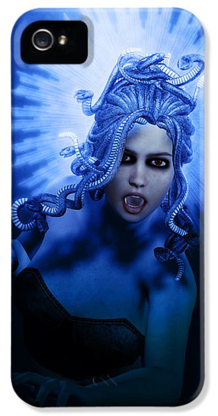 Gorgon Blue IPhone 5 / 5s Case by Joaquin Abella
