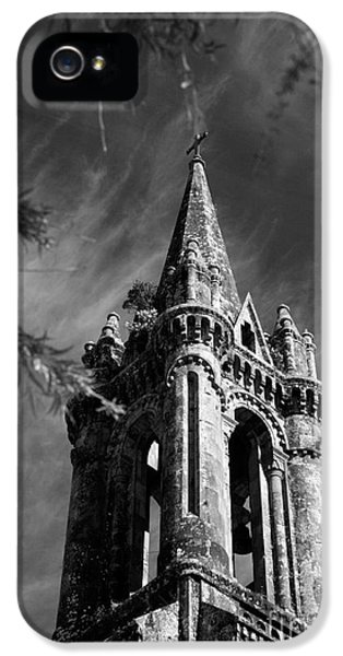Black And White iPhone 5 Cases - Gothic style iPhone 5 Case by Gaspar Avila