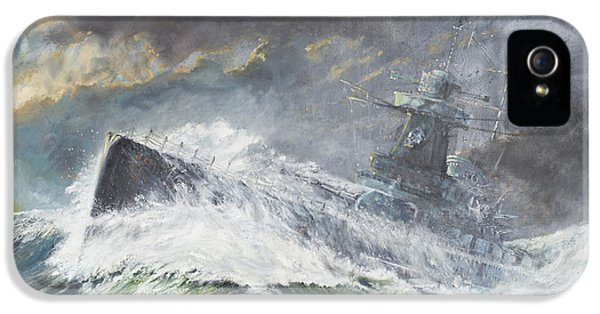 Indian Ocean iPhone 5 Cases - Graf Spee enters the Indian Ocean iPhone 5 Case by Vincent Alexander Booth
