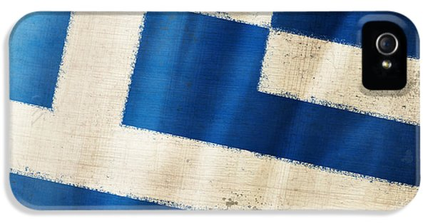 Dirty iPhone 5 Cases - Greece flag iPhone 5 Case by Setsiri Silapasuwanchai