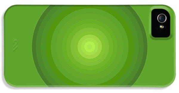 Green Circles IPhone 5 / 5s Case by Frank Tschakert