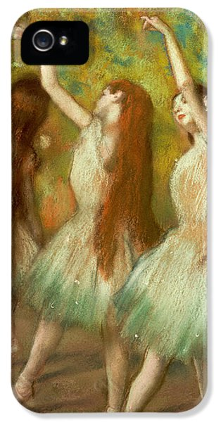 Trio iPhone 5 Cases - Green Dancers iPhone 5 Case by Edgar Degas