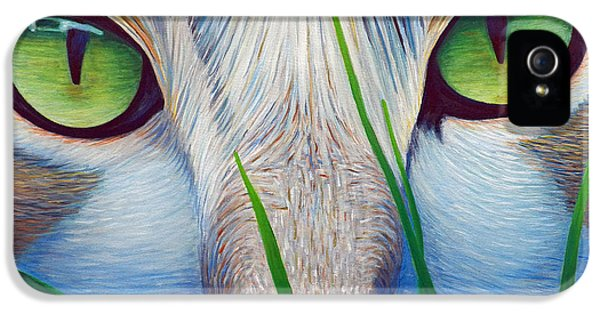Eyes iPhone 5 Cases - Green Eyes iPhone 5 Case by Brian  Commerford