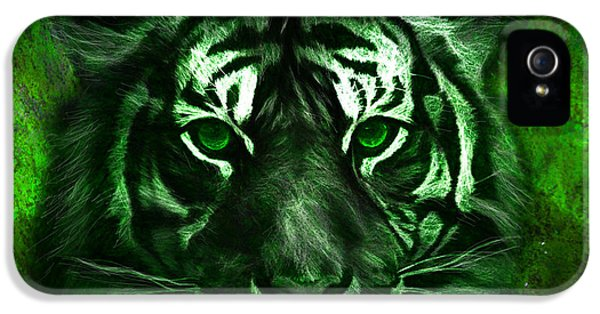 Green Tiger IPhone 5 / 5s Case by Michael Cleere