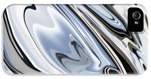 Grey And Black Metal Marbling Effect Abstract IPhone 5 / 5s Case by Tracey Harrington-Simpson
