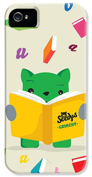 Children iPhone 5 Cases - Grinchy and Books iPhone 5 Case by Seedys