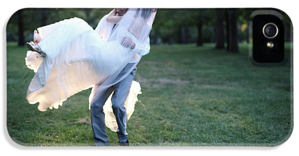 Arms iPhone 5 Cases - Groom Carrying Bride - F iPhone 5 Case by Gillham Studios