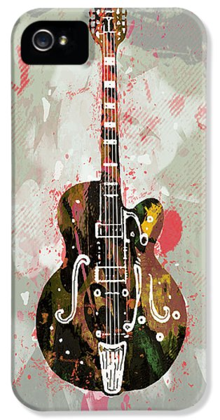Acoustically iPhone 5 Cases - Guitar stylised pop art poster iPhone 5 Case by Kim Wang