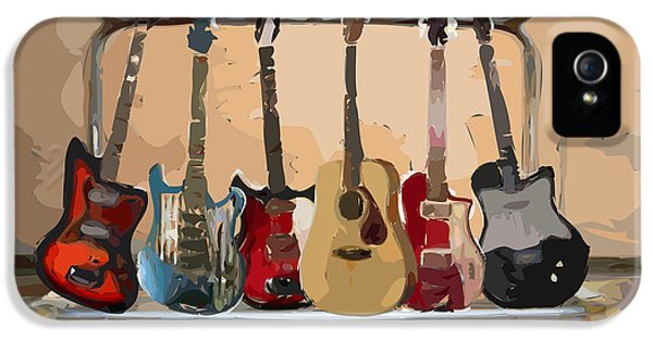 Guitars On A Rack IPhone 5 / 5s Case by Arline Wagner
