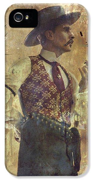 Gunslinger IIi Doc Holliday In Fine Attire IPhone 5 / 5s Case by Toni Hopper