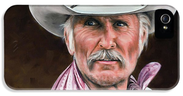 Guns iPhone 5 Cases - Gus McCrae Texas Ranger iPhone 5 Case by Rick McKinney