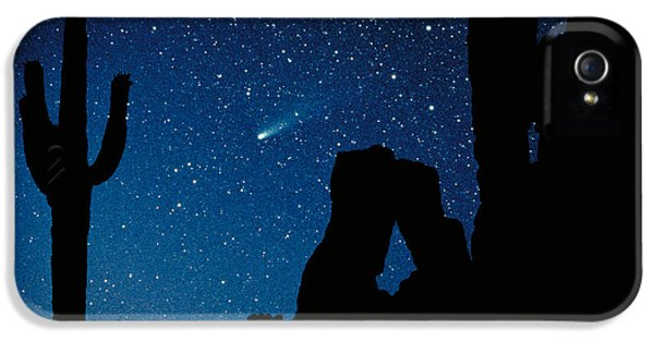 Deserted iPhone 5 Cases - Halleys Comet iPhone 5 Case by Frank Zullo