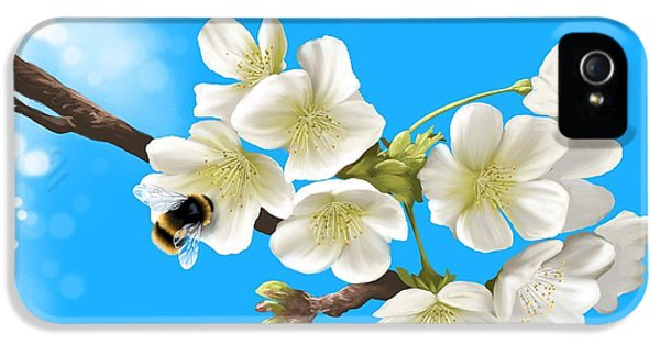 Bee iPhone 5 Cases - Happy bee iPhone 5 Case by Veronica Minozzi