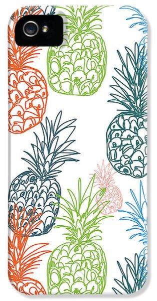 Happy Pineapple- Art By Linda Woods IPhone 5 / 5s Case by Linda Woods