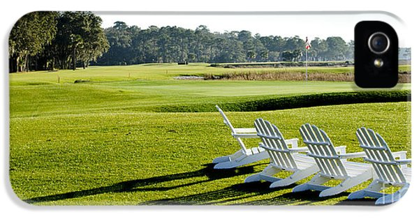 Harbor iPhone 5 Cases - Harbor Town at Seapines 18th Hole iPhone 5 Case by Dustin K Ryan