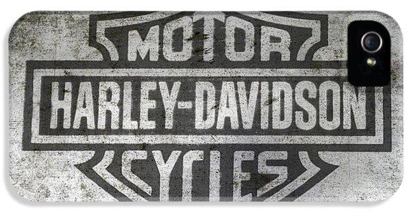 Harley Davidson Logo On Metal IPhone 5 / 5s Case by Randy Steele