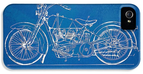 Blueprint iPhone 5 Cases - Harley-Davidson Motorcycle 1928 Patent Artwork iPhone 5 Case by Nikki Marie Smith