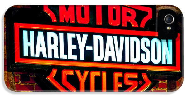 Spotlight iPhone 5 Cases - Harley Downtown Vegas iPhone 5 Case by Andy Smy