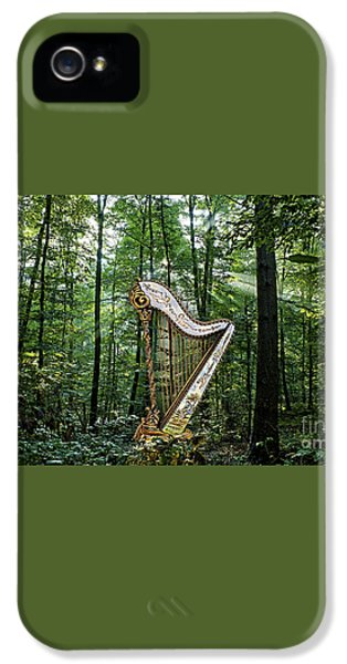 Harp In The Woods IPhone 5 / 5s Case by Marvin Blaine