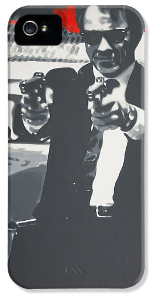 Harvey Keitel iPhone 5 Cases - Harvey 2013 iPhone 5 Case by Luis Ludzska