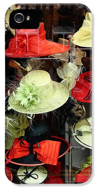 Milliner iPhone 5 Cases - Hats in a Window iPhone 5 Case by Jeff Townsend