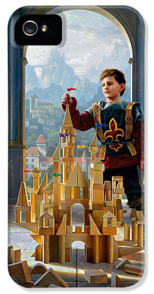 Castle iPhone 5 Cases - Heir to the Kingdom iPhone 5 Case by Greg Olsen