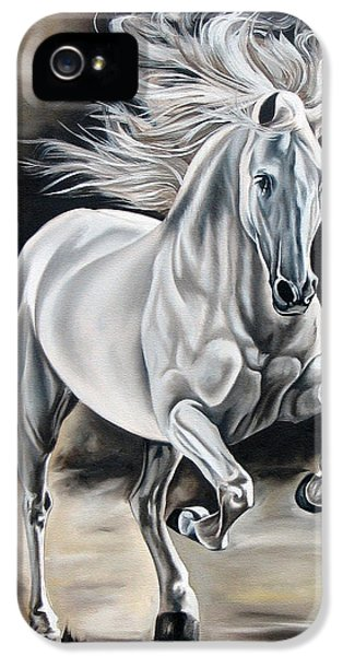 Horse iPhone 5 Cases - Hereje iPhone 5 Case by Ilse Kleyn