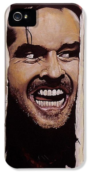 Here's Johnny IPhone 5 / 5s Case by Tom Carlton