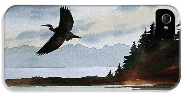 Heron Silhouette IPhone 5 / 5s Case by James Williamson