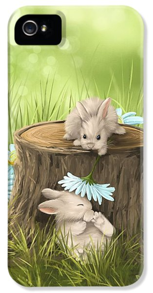 Bunny iPhone 5 Cases - Hi there iPhone 5 Case by Veronica Minozzi