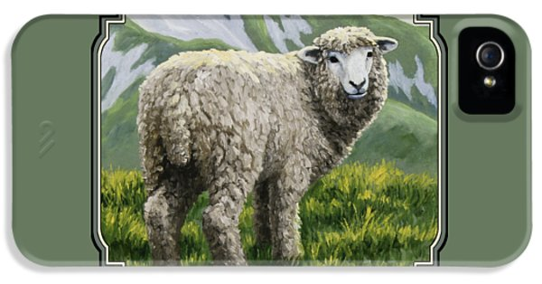Ewe iPhone 5 Cases - Highland Ewe iPhone 5 Case by Crista Forest