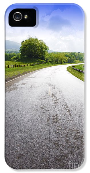 Scenic iPhone 5 Cases - Highland Scenic Highway Route 150 iPhone 5 Case by Thomas R Fletcher