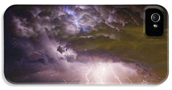 Highway 52 Storm Cell - Two And Half Minutes Lightning Strikes IPhone 5 / 5s Case by James BO  Insogna