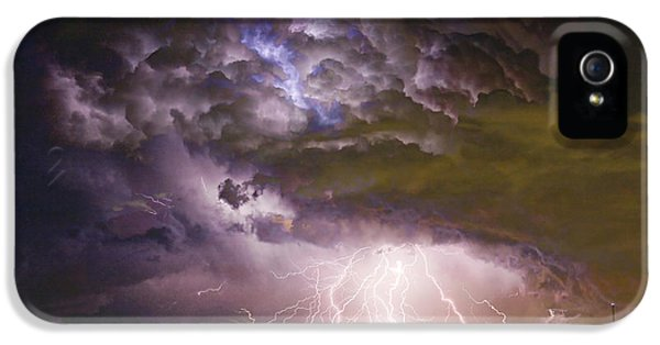 Skyscapes iPhone 5 Cases - Highway 52 Storm Cell - Two and half Minutes Lightning Strikes iPhone 5 Case by James BO  Insogna