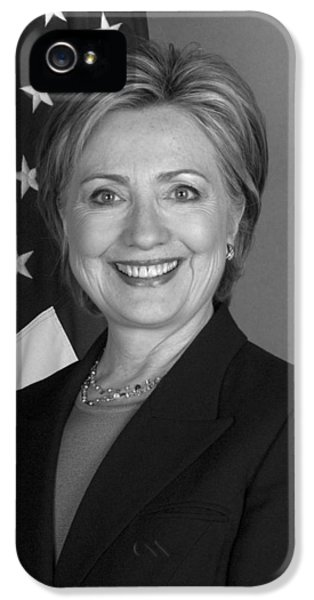 First Lady iPhone 5 Cases - Hillary Clinton iPhone 5 Case by War Is Hell Store