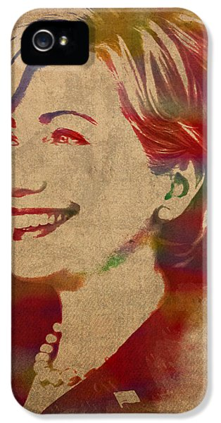 Hillary Rodham Clinton Watercolor Portrait IPhone 5 / 5s Case by Design Turnpike