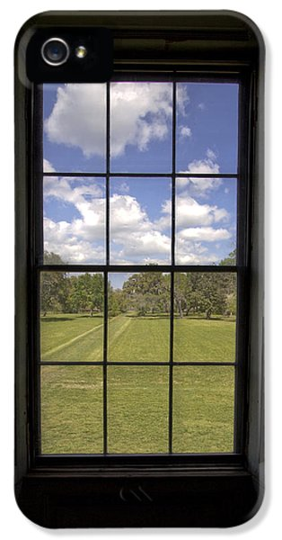 Historic Oak iPhone 5 Cases - Historic Drayton Hall Window in Charleston South Carolina iPhone 5 Case by Dustin K Ryan
